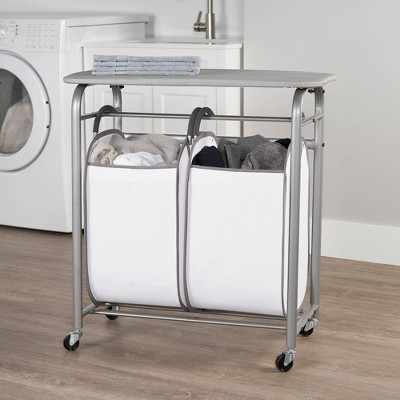 Neatfreak Easy Access Double Laundry Sorter with Folding Table