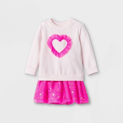 Baby Girls' Valentine's Tutu Top & Bottom Set - Cat & Jack™ Pink
