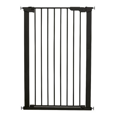 """Scandinavian Pet Design Extra Tall 31"""" Pressure Mount Animal Safety Gate for Large and Small Dogs, Black"""