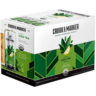 Crook & Marker Spiked Classic Iced Tea - 8pk/11.5 fl oz Cans