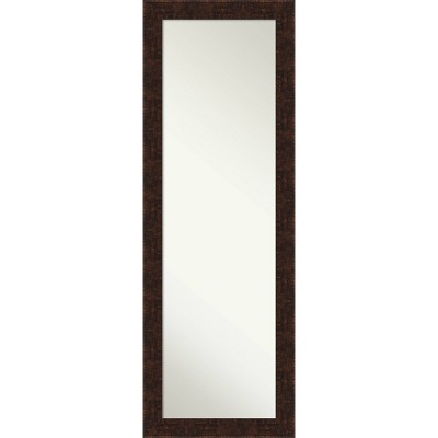 "18"" x 52"" William Narrow Framed Full Length on the Door Mirror Bronze - Amanti Art"