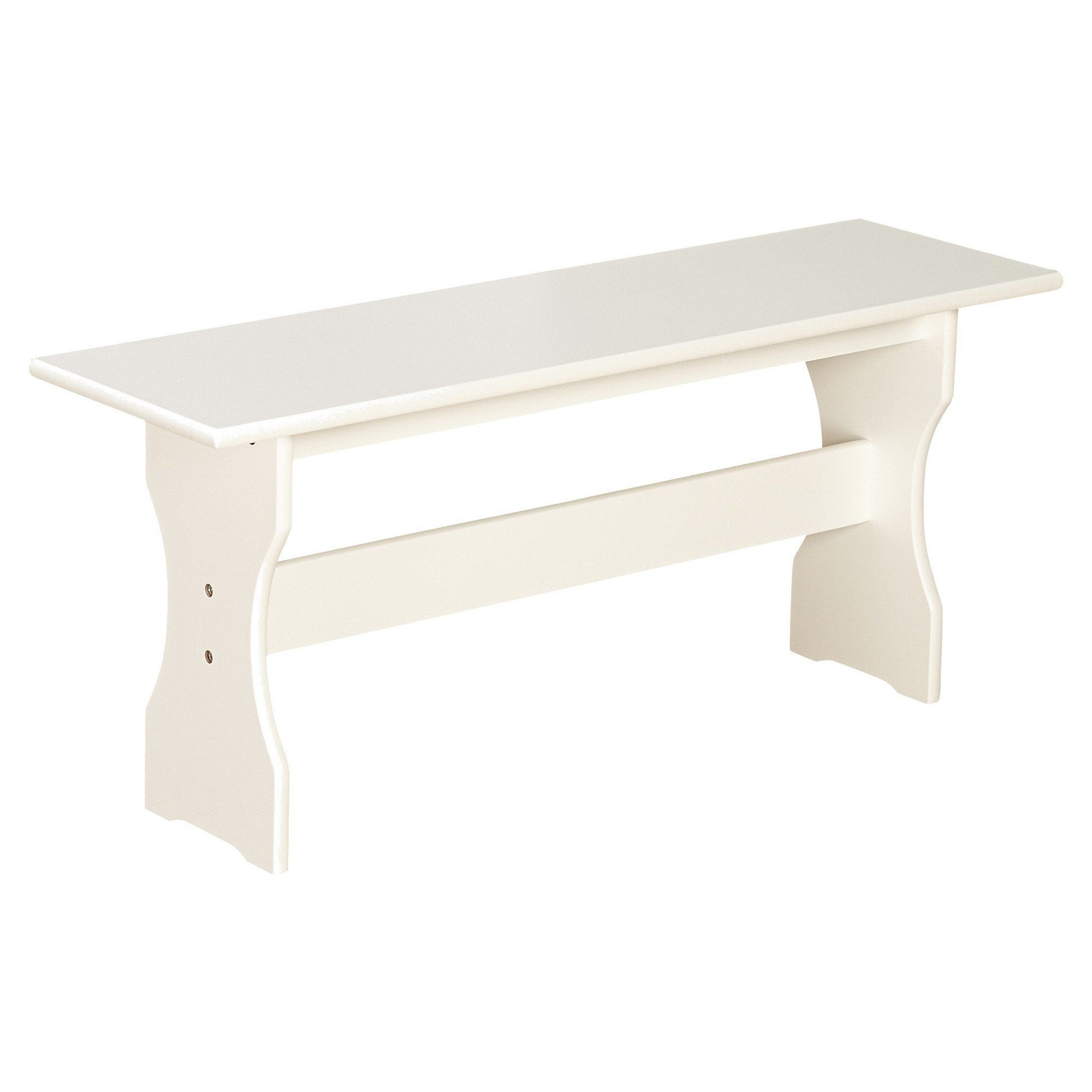 Nook Bench Wood/Antique White - TMS