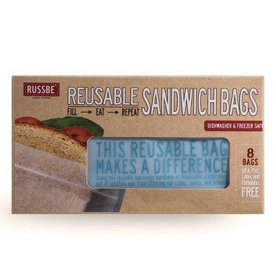 Russbe Reusable Sandwich Bags - 8ct