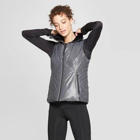 Women's Puffer Vest - C9 Champion® Heather Gray L - image 1 of 2