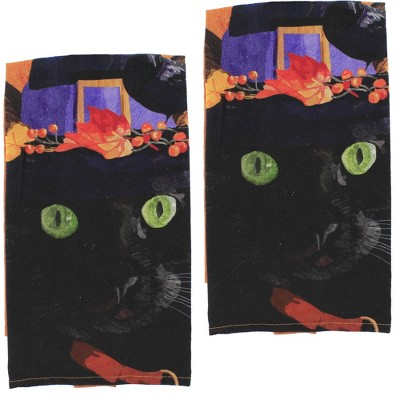 """Tabletop 26.0"""" Witch Cat Mose Towel Halloween Fall C & F Enterprises  -  Kitchen Towel"""