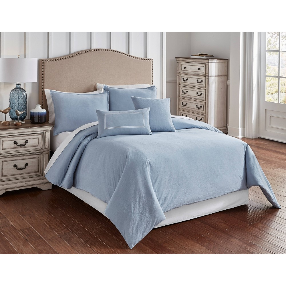 Riverbrook Home King Crosswoven Comforter & Sham Set Blue