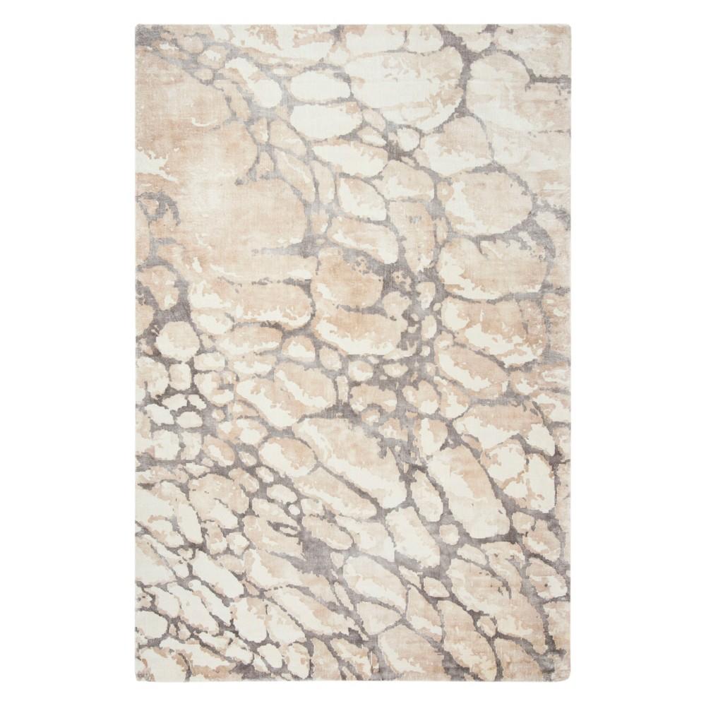 6'X9' Pebble Area Rug Gray/Ivory - Safavieh