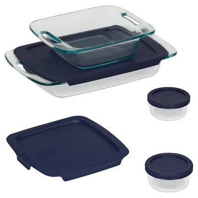 Pyrex Easy Grab 8pc Glass Bake and Store Set
