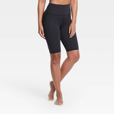 "Women's Contour Curvy High-Rise Shorts 11"" - All in Motion™ Black"