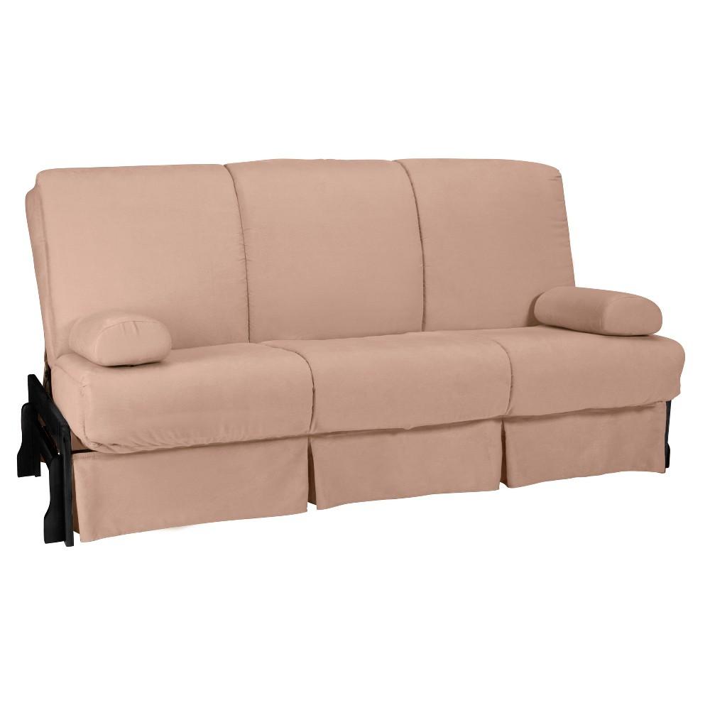 Low Arm Perfect Futon Sofa Sleeper Black Wood Finish - Epic Furnishings, Green