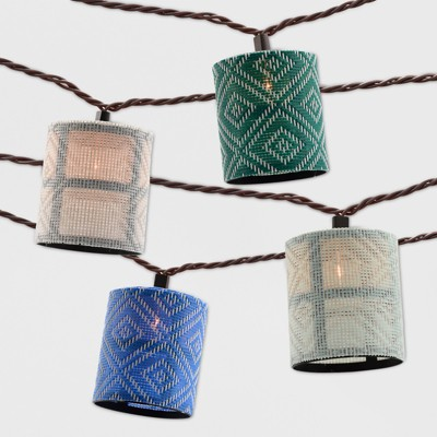 10ct Outdoor Color Hood String Lights - Opalhouse™