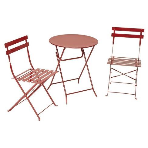 3pc metal patio folding bistro set cosco - Bistro Patio Set