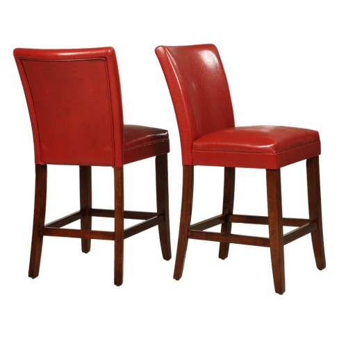 26 Elizabeth Parson Counter Stool Red Set Of 2 Inspire Q