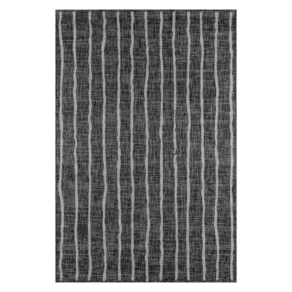 3'3X5' Stripe Loomed Accent Rug Charcoal (Grey) - Novogratz By Momeni
