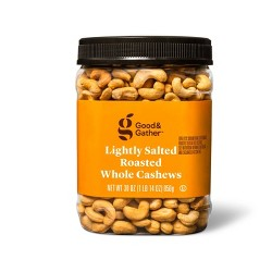 Lightly Salted Roasted Whole Cashews - 30 oz - Good & Gather™