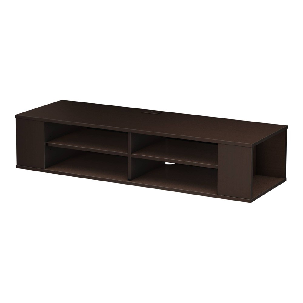 "Image of ""48"""" City Life Wall Mounted Media Console Chocolate - South Shore"""