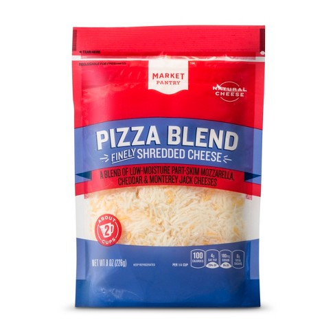 Finely Shredded Pizza Three Cheese Blend - 8oz - Market Pantry™ - image 1 of 1