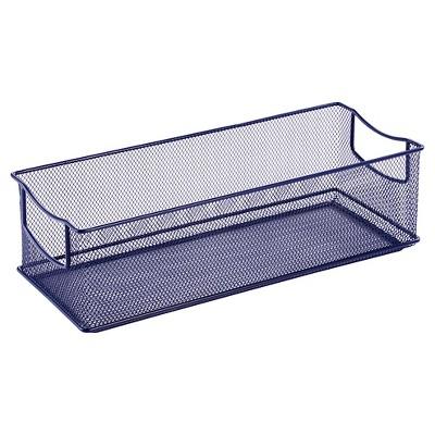 Rectangle Wire Decorative Toy Storage Bin Navy   Pillowfort™