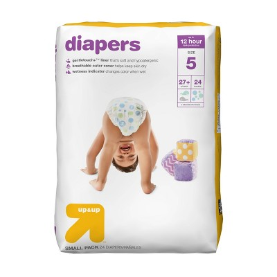 Diapers Small Pack - Size 5 - 24ct - Up&Up™