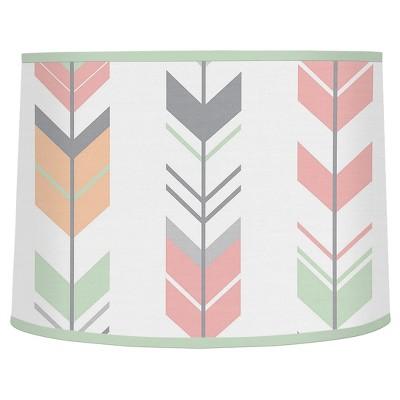 Coral & Mint Arrow Lampshade - Sweet Jojo Designs®