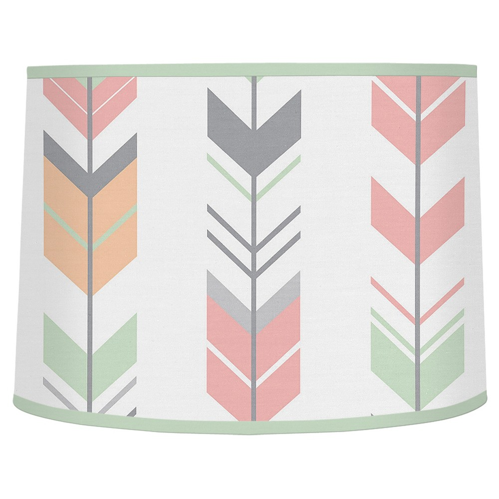 Image of Coral/Mint Arrow Lampshade - Sweet Jojo Designs