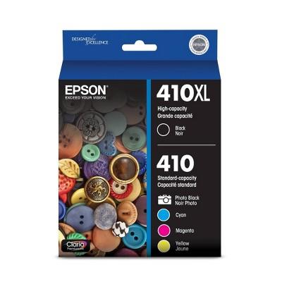 Epson 410XL Black & Standard Capacity Photo Black - C/M/Y Ink Cartridges Combo 5pk (T410XL-BCS)