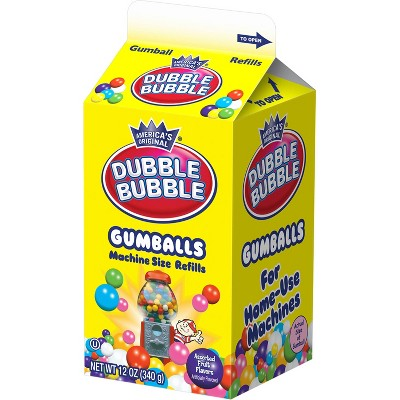 Dubble Bubble Machine Size Refills Gumballs - 12oz