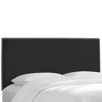 Arcadia Nailbutton Linen Headboard - Skyline Furniture