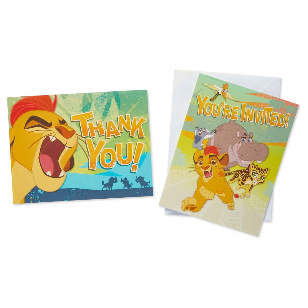 8ct Lion Guard Invite and Thank You Combo Pack