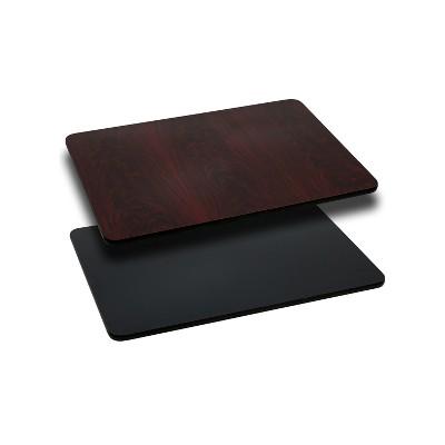 Flash Furniture 24'' x 30'' Rectangular Table Top with Reversible Laminate Top