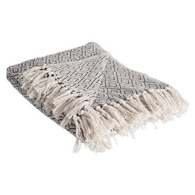Fields Of Diamond Throw Blanket Mineral - Design Imports