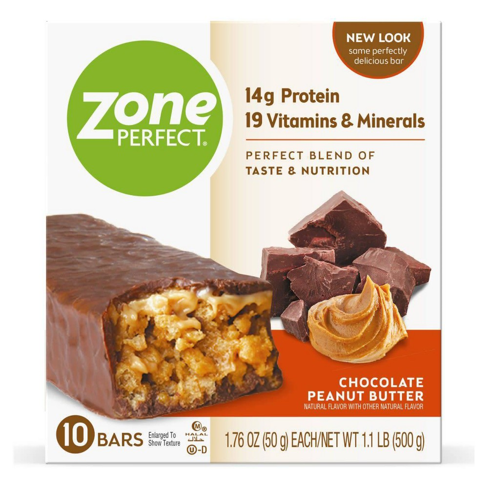 Zoneperfect Protein Bar Chocolate Peanut Butter 10 Ct 17 6oz