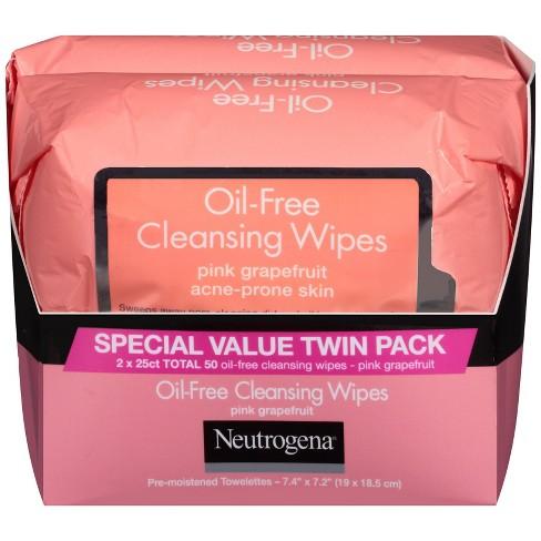 Neutrogena Oil-Free Cleansing Wipes - Pink Grapefruit - 50ct/2pk - image 1 of 4