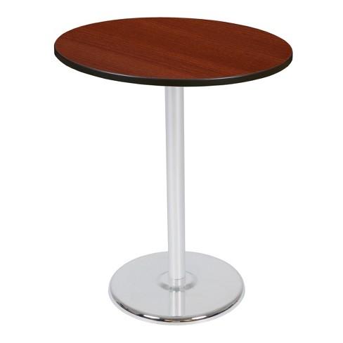 "36"" Via Cafe High Round Platter Base Table Cherry/Chrome - Regency - image 1 of 3"