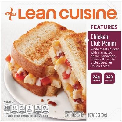 Lean Cuisine Casual Cuisine Frozen Chicken Club Panini - 6oz