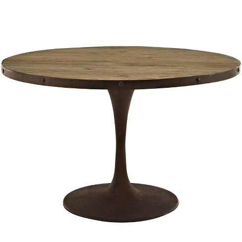 Drive Round Wood Top Dining Table - Modway - image 1 of 4