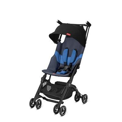 GB 619000531 Gold Pockit Plus Lightweight Folding Adjustable All Terrain Infant Stroller, Night Blue