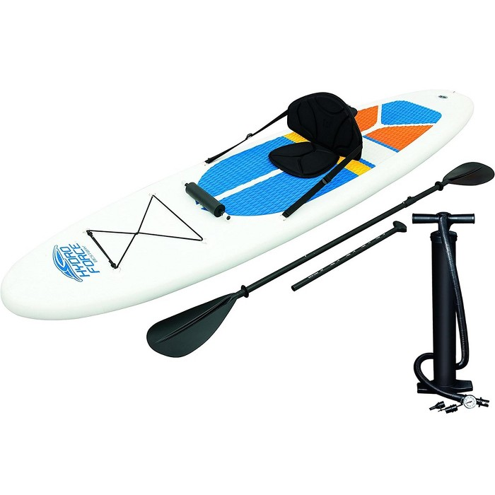 Bestway Hydro-Force 10 Foot Inflatable Stand Up Paddle Board Sup & Kayak, White - image 1 of 6