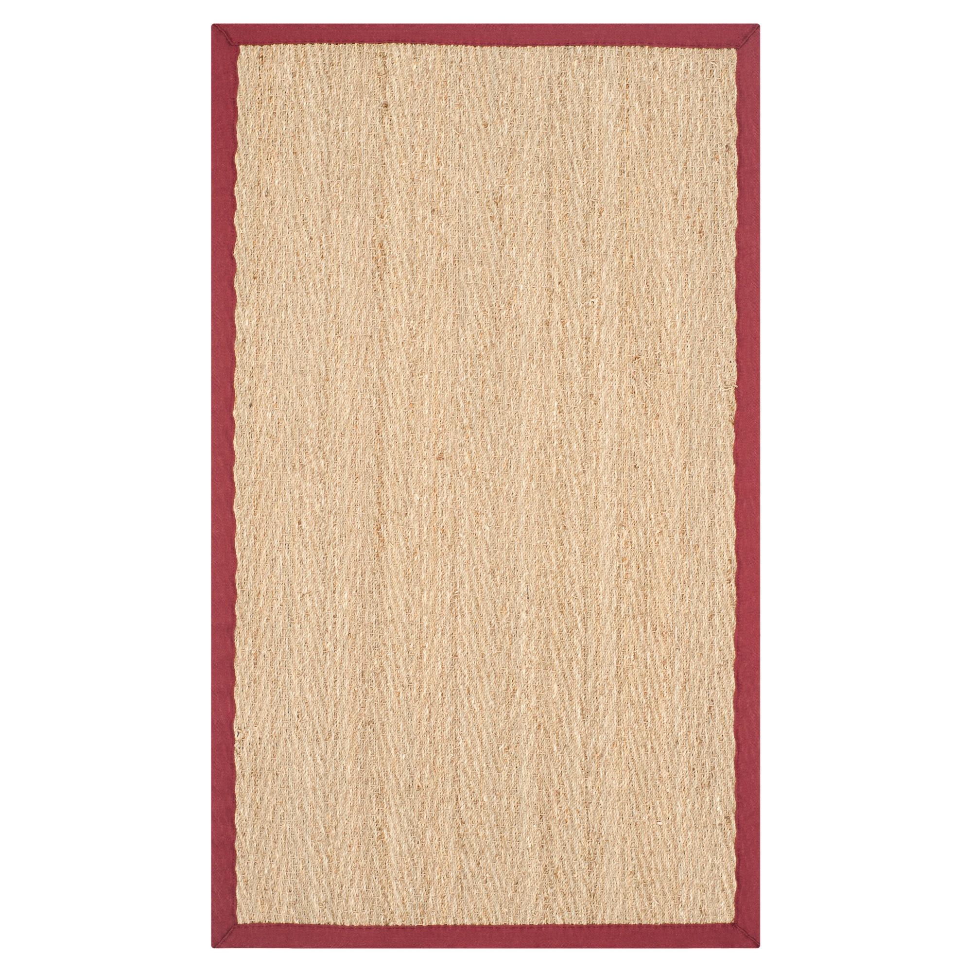 Natural Fiber Rug - Natural/Red - (2'6x4') - Safavieh