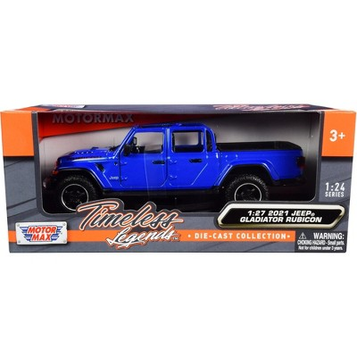 2021 Jeep Gladiator Rubicon (Open Top) Pickup Truck Blue 1/24-1/27 Diecast Model Car by Motormax