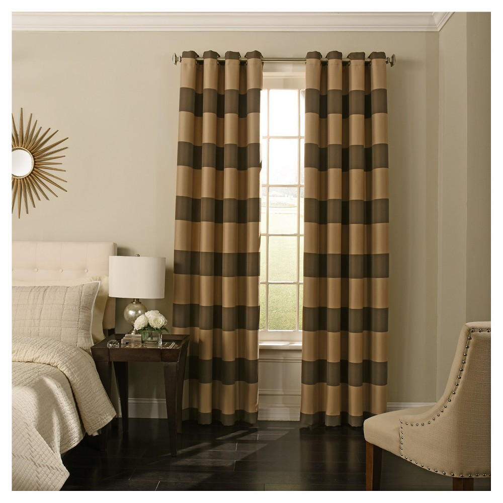 "Image of ""108""""x52"""" Gaultier Blackout Curtain Brown - Beautyrest"""