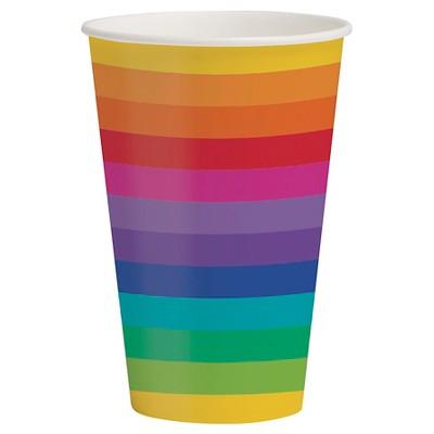 Rainbow 12 oz Cups 8 pk