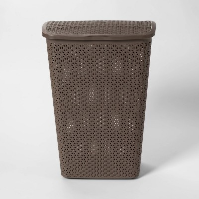 Y Weave Pattern Hamper Dark Gray - Room Essentials™