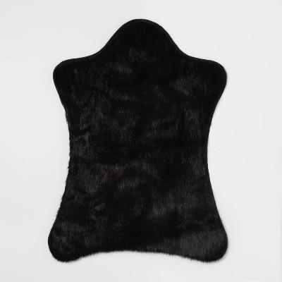 Faux Fur Pelt Black   Project 62™ by Shop Collections