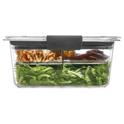 Rubbermaid Brilliance Food Storage Container, 4.7 Cup/1.11 Liter, Clear