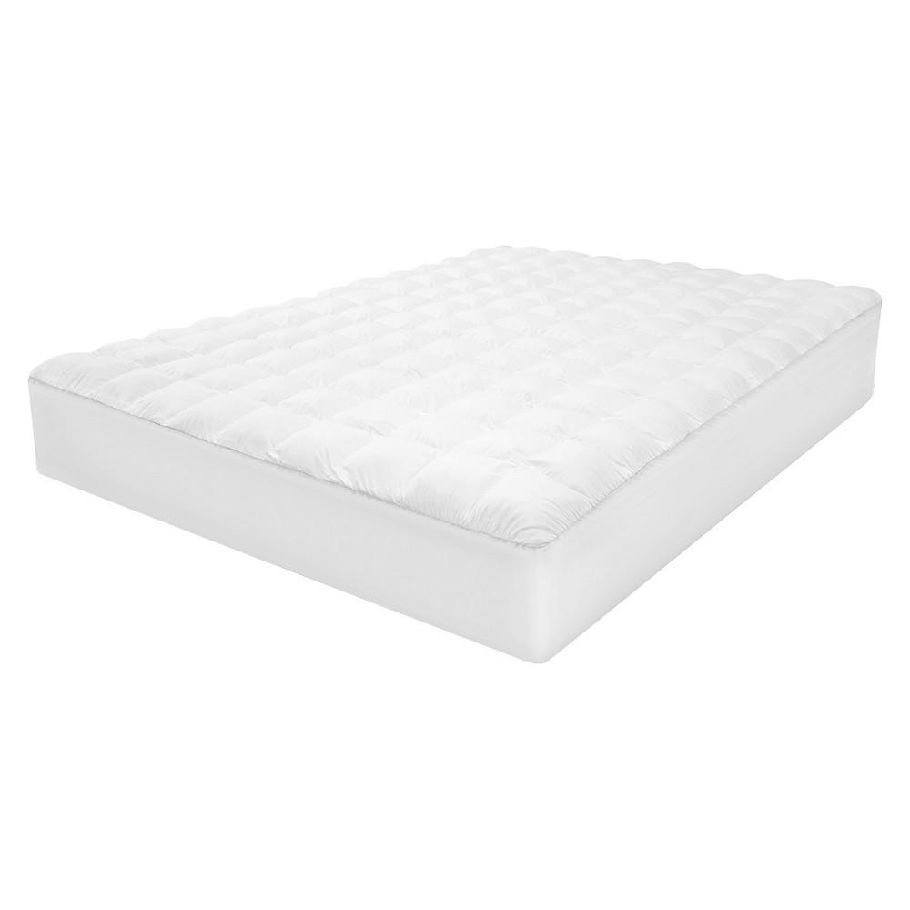 SensorLOFT Luxury Top Loft Gel Fiber Mattress Pad - White (Full)