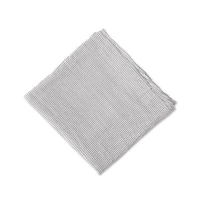 Red Rover Cotton Muslin Single Swaddle Blanket - Gray Micro Stripe