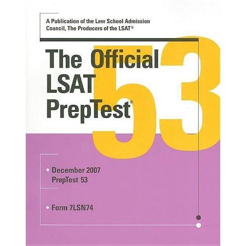 The Official LSAT PrepTest - (Paperback) - image 1 of 1