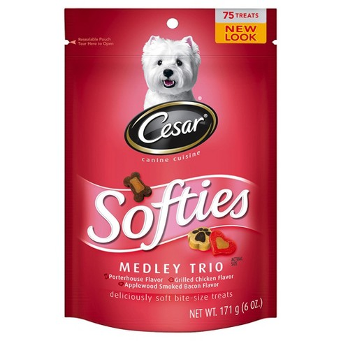 Cesar Softies Medley Trio Dog Treats - 6 oz 75 Treats - image 1 of 2