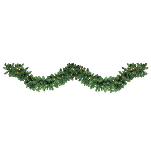 Northlight 27 X 14 Prelit Led Olympia Pine Artificial Christmas Garland Warm White Lights